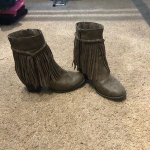 Only worn a few times fringe Nordstrom booties